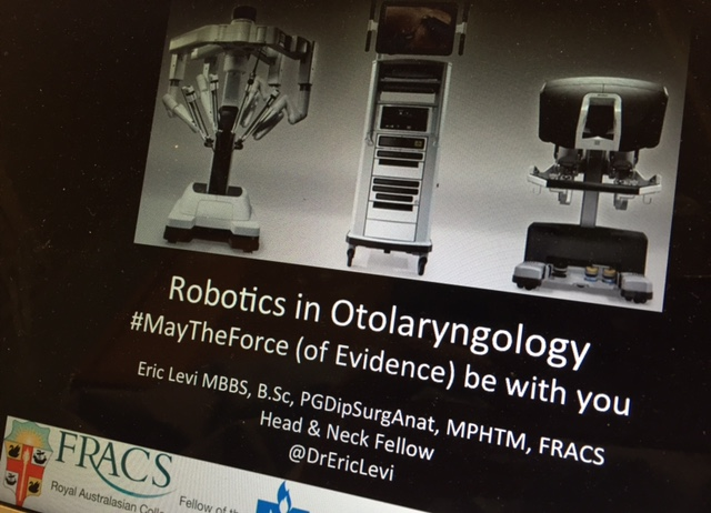 Robotics in Otolaryngology