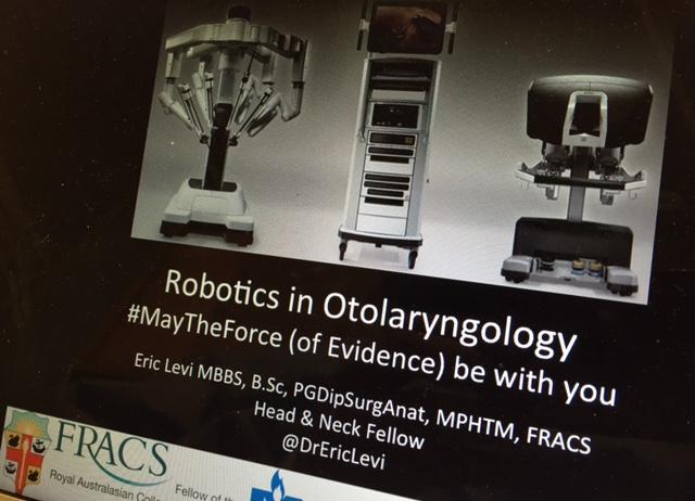 Robotics in Otolaryngology